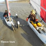 Sand sailing in France