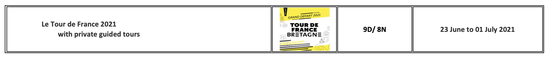 Enjoy France Tours TDF 2021