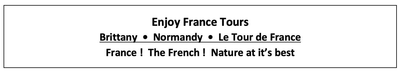 Enjoy France Tours Home Page