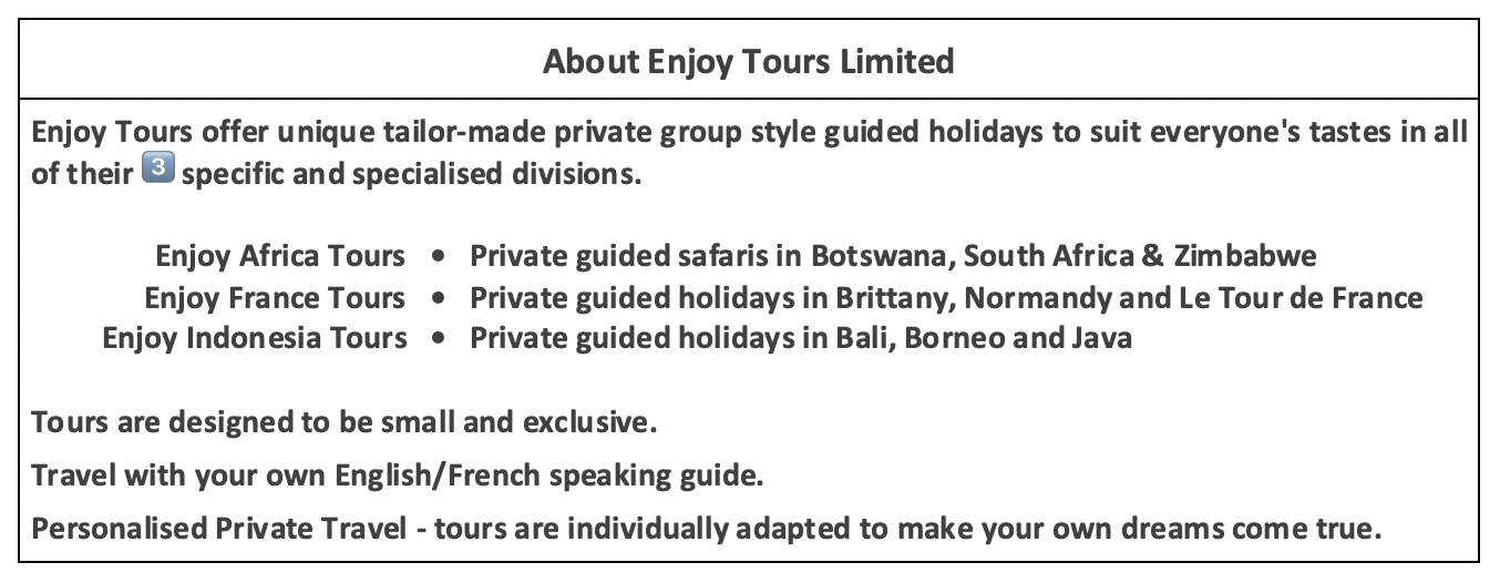 Enjoy Tours Limited About us