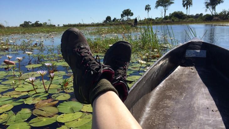 Tours Okavango Mokoro Michele Relaxing