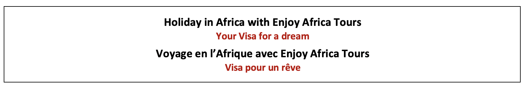 Enjoy Africa Tours Holiday in Africa Visa