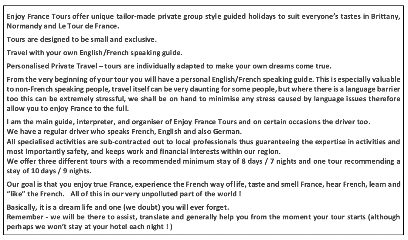 Enjoy France Tours About us