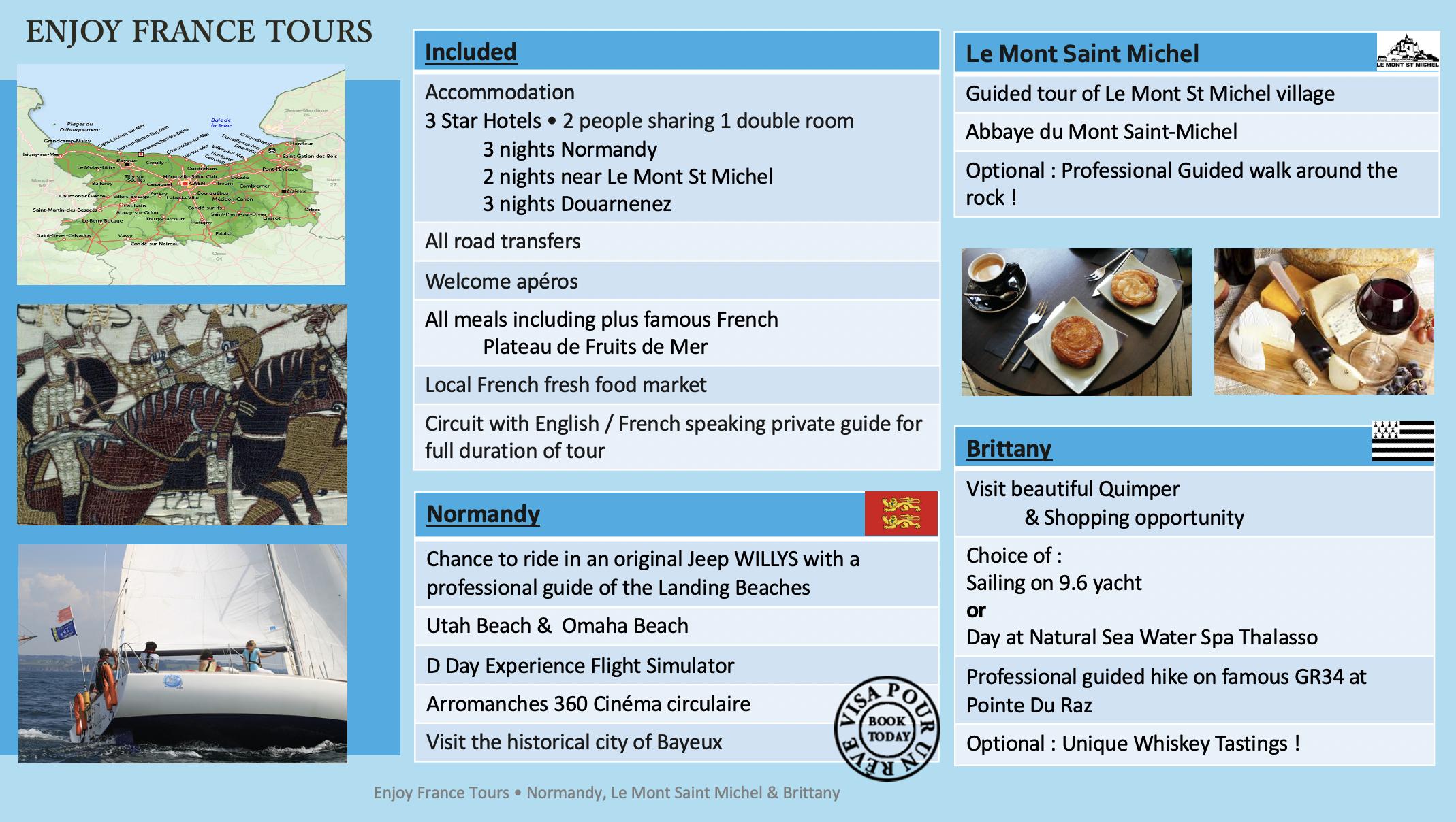Enjoy France Tours NORMANDY Website Pg 2