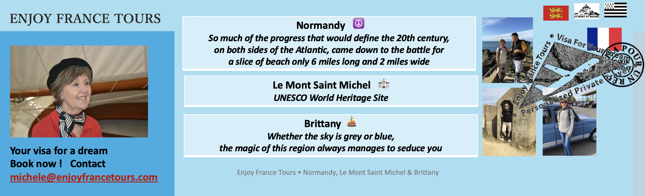 Enjoy France Tours NORMANDY Website Pg 4