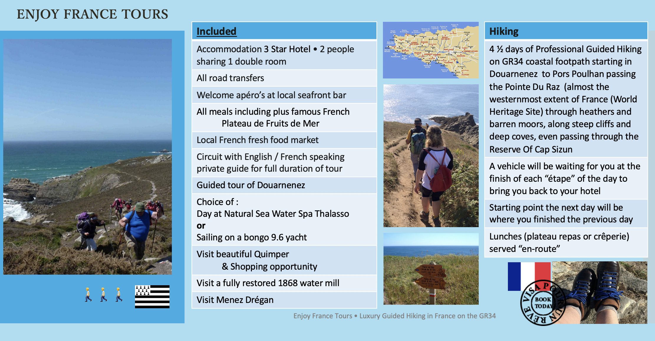 Enjoy France Tours LUXURY HIKING Website Pg 2