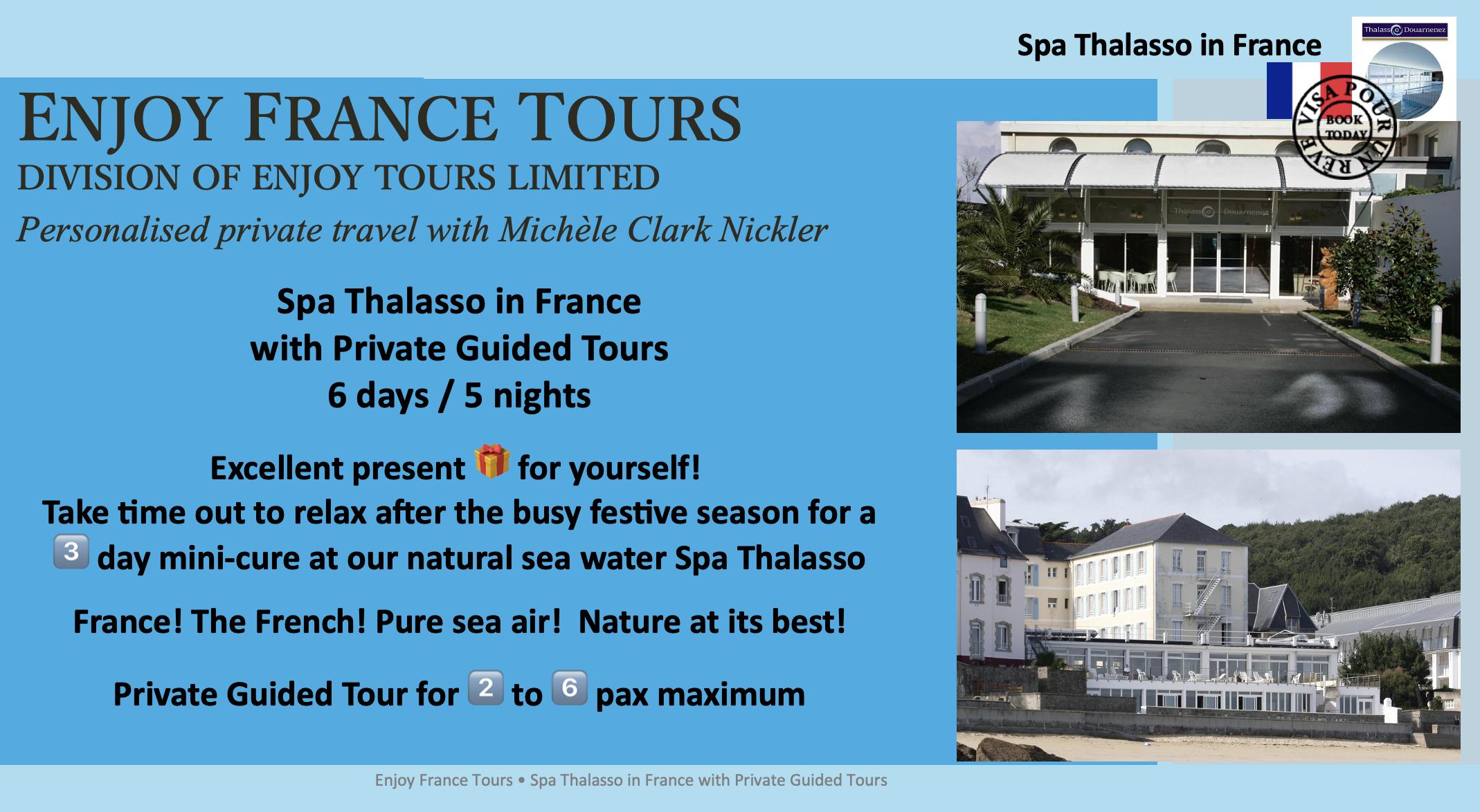 Enjoy France Tours SPA THALASSO Website Pg 1