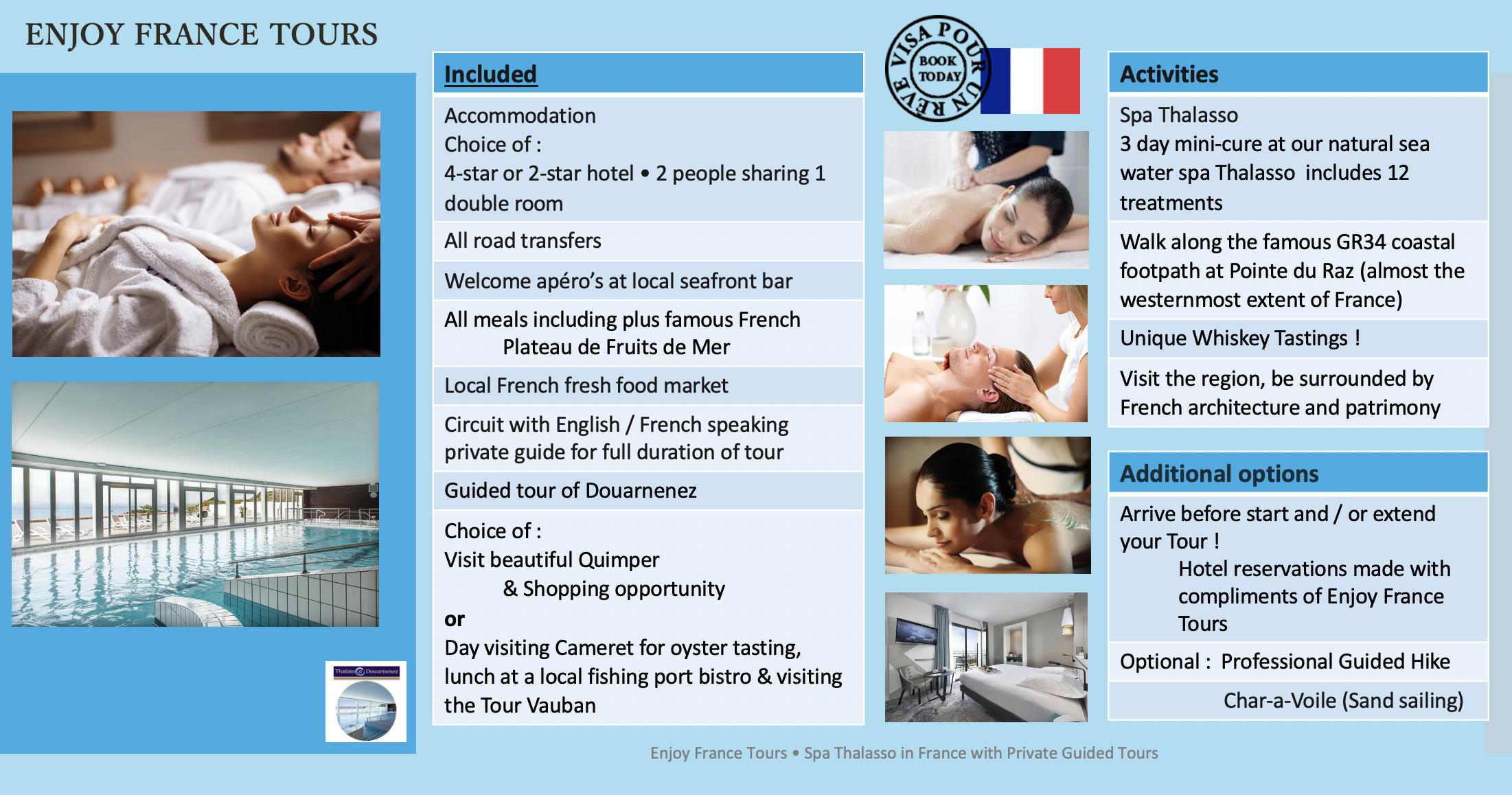 Enjoy France Tours SPA THALASSO Website Pg 2