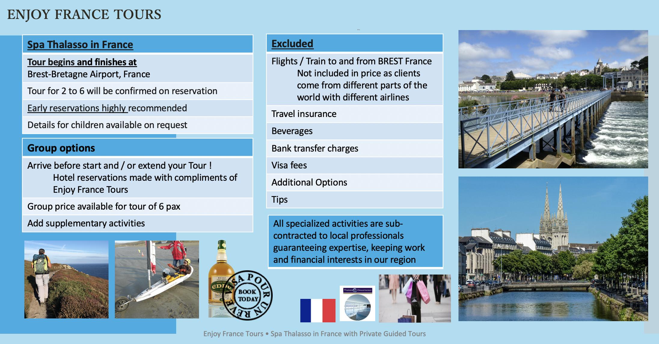 Enjoy France Tours SPA THALASSO Website Pg 3