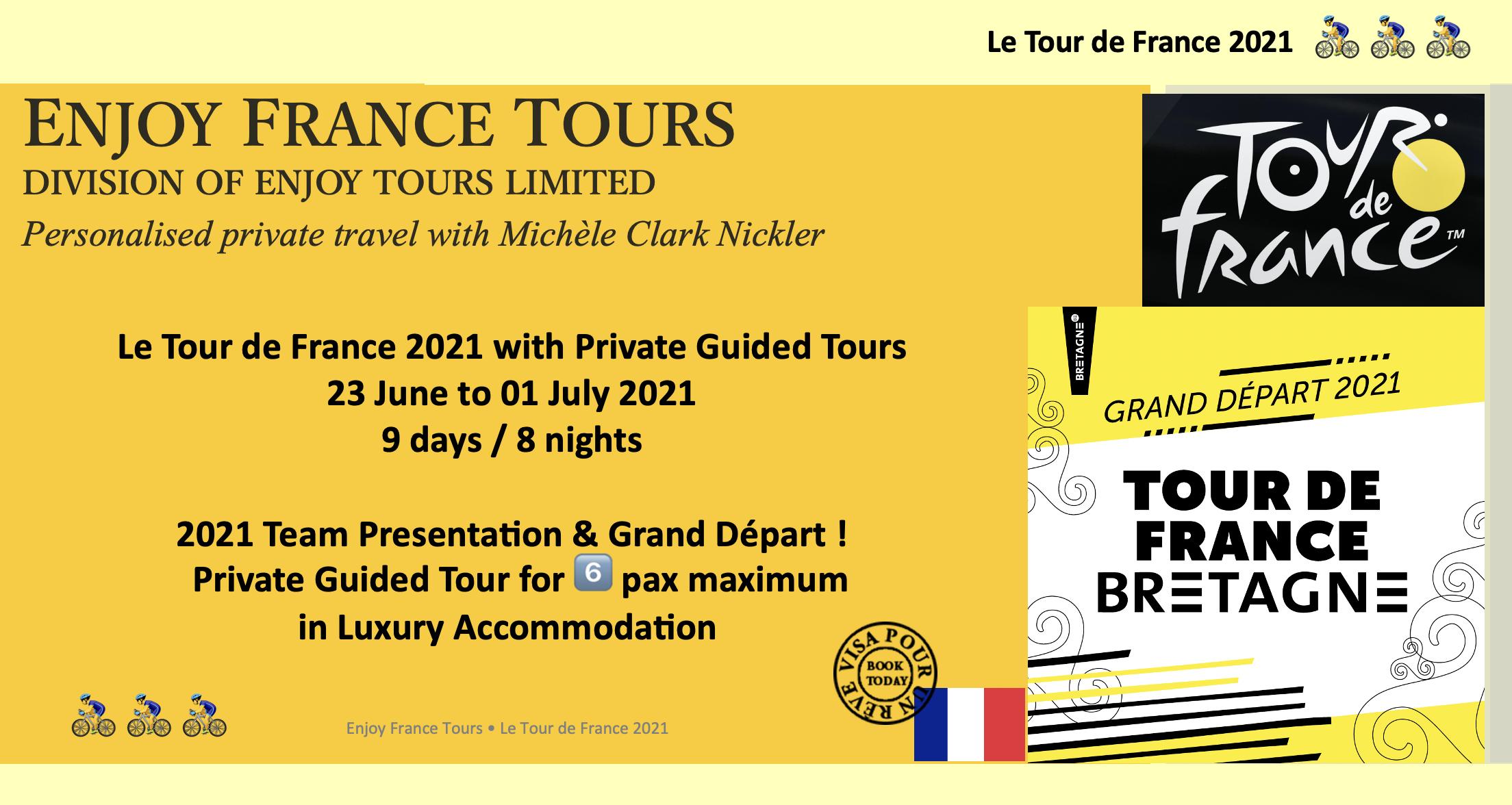 Enjoy France Tours TDF Website 2021 Pg 1