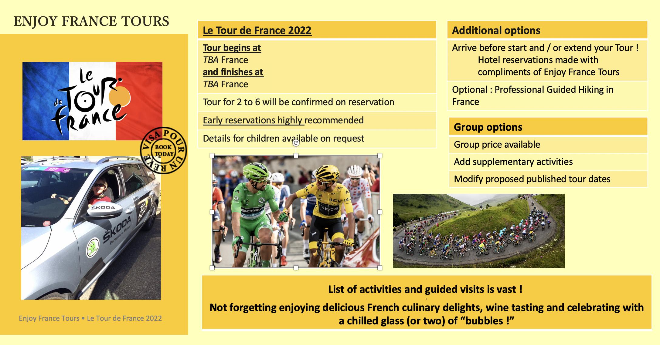 Enjoy France Tours TDF Website 2022 Pg 3