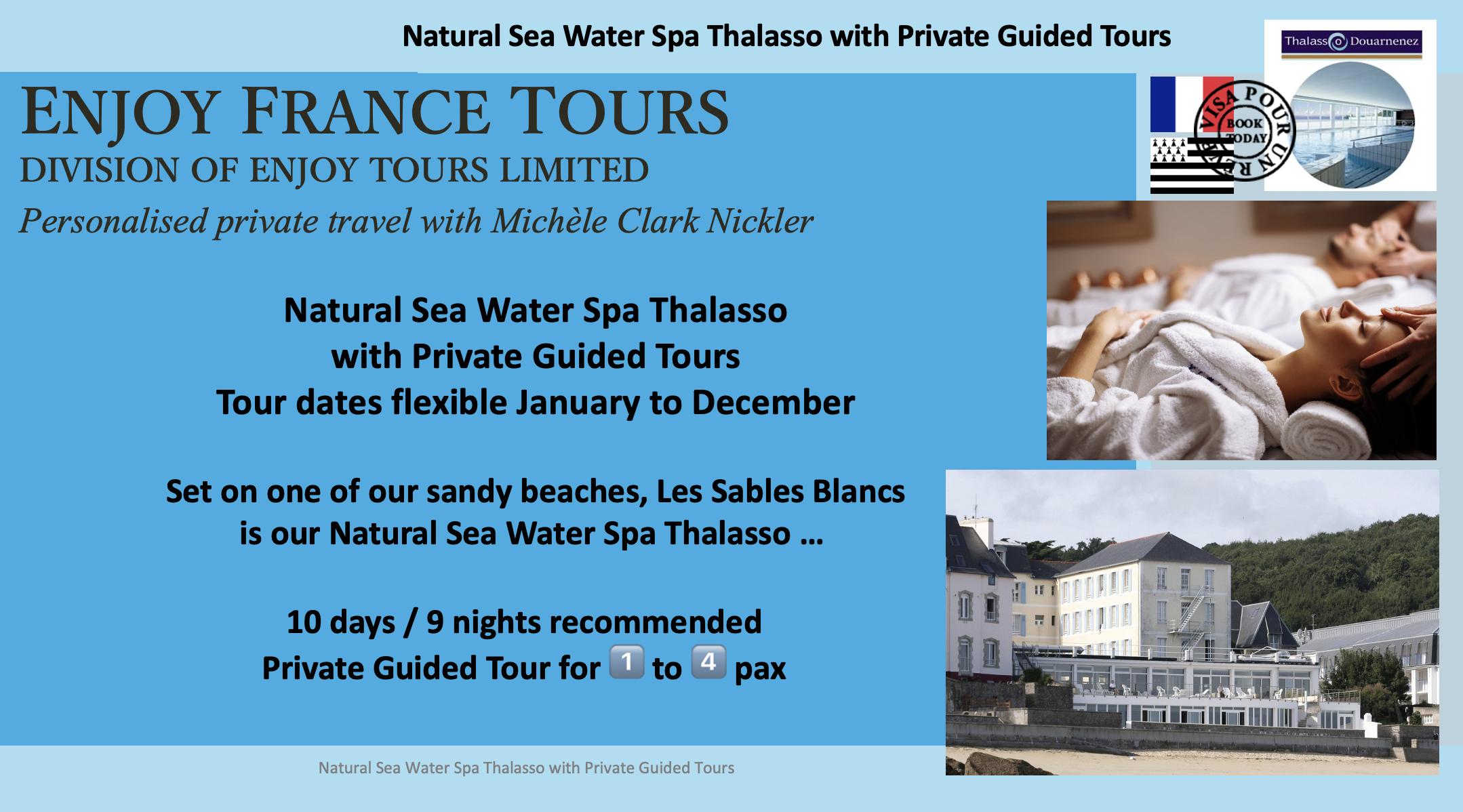 Enjoy France Tours NATURAL SEA WATER SPA THALASSO Website Pg 1
